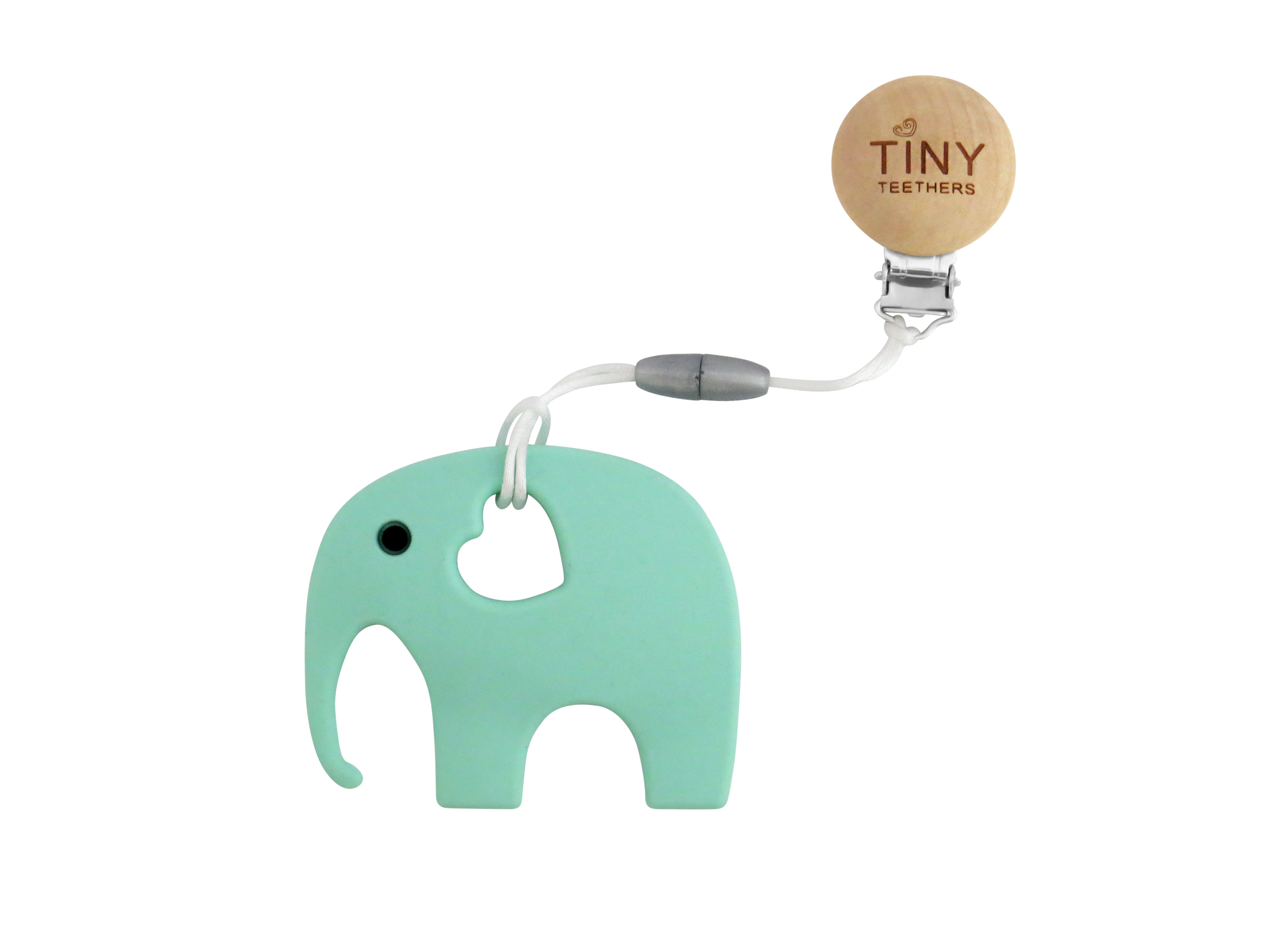 TINY TEETHERS TC003 SILICONE MINT ELEPHANT TEETHER