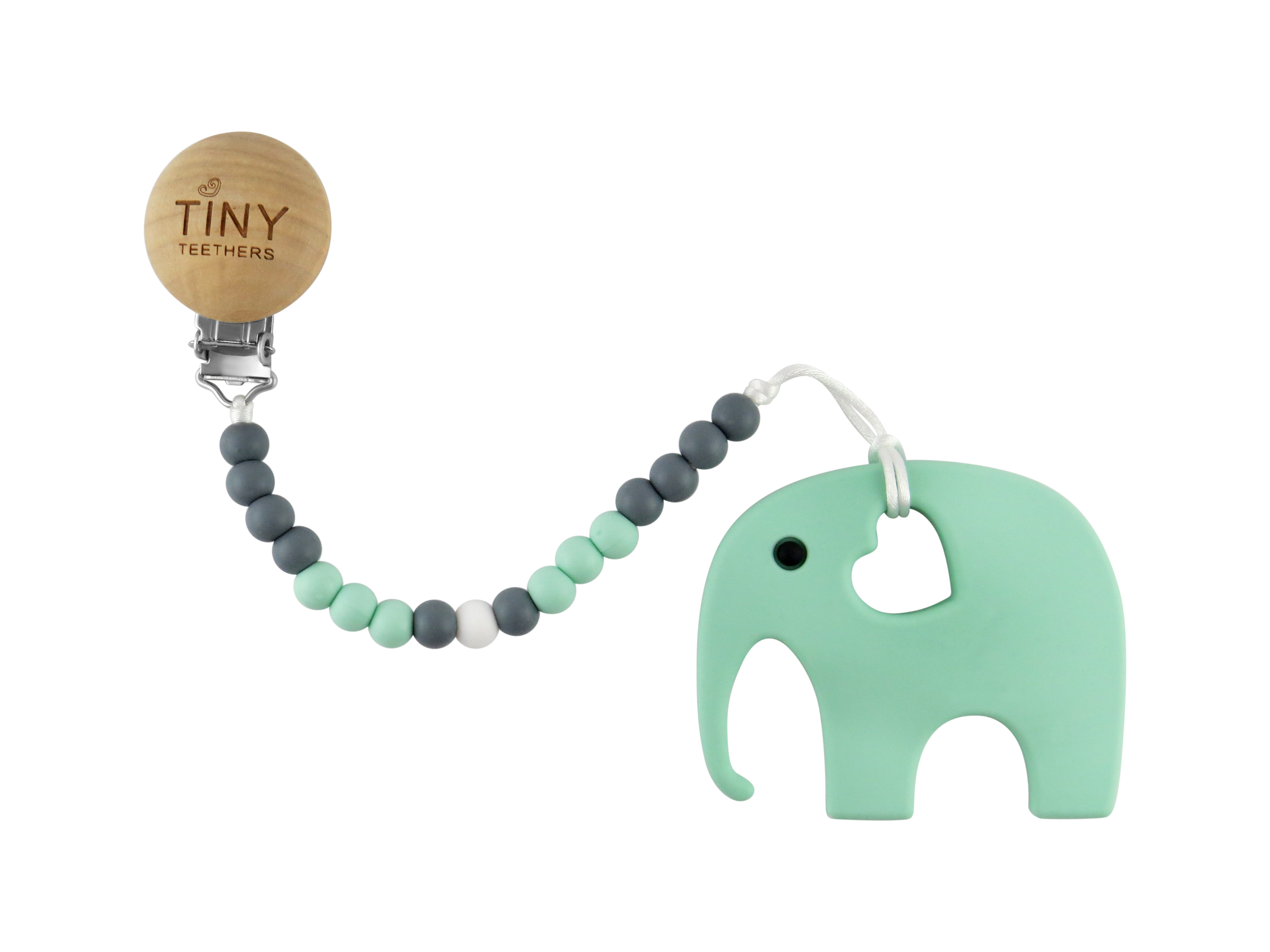 TINY TEETHERS TCC003 TEETHER ELEPHANT + CLIP COLLECTION