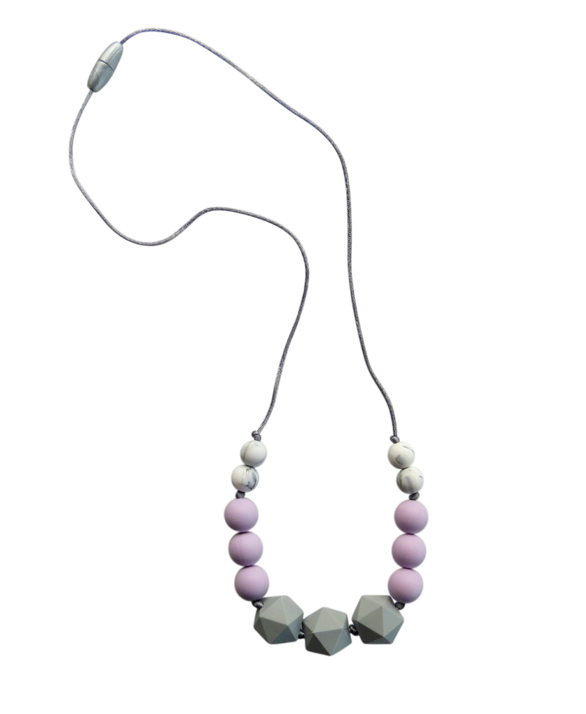 TINY TEETHERS ZC001 ZINNIA COLLECTION BEADS LAVENDER MARBLE