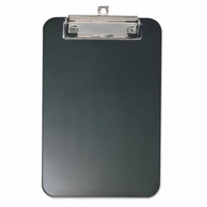"Plastic Memo Clipboard, 1/2"" Capacity, 6 x 9, Black"
