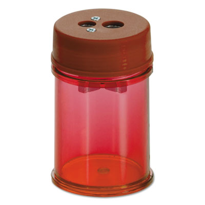 Pencil/Crayon Sharpener, Twin, Red, 1 3/8w x 1 3/8d x 2 1/8h, 8/Pk