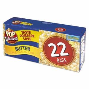 Microwave Popcorn, Butter, 2.17oz Bag, 22/Box