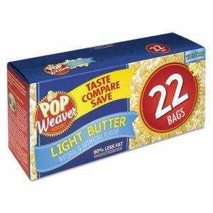 Microwave Popcorn, Light Butter, 2.5oz Bag, 22/Box
