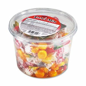 Fancy Assorted Hard Candy, Individually Wrapped, 2 lb Resealable Plastic Tub
