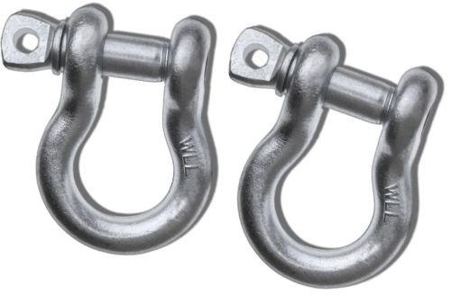 1 inch MEGA D-SHACKLES - GALVANIZED (PAIR) (4X4 VEHICLE RECOVERY)