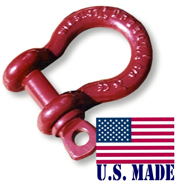 1/2 inch ATV D-SHACKLES - North American Made (SINGLE) (ATV RECOVERY)
