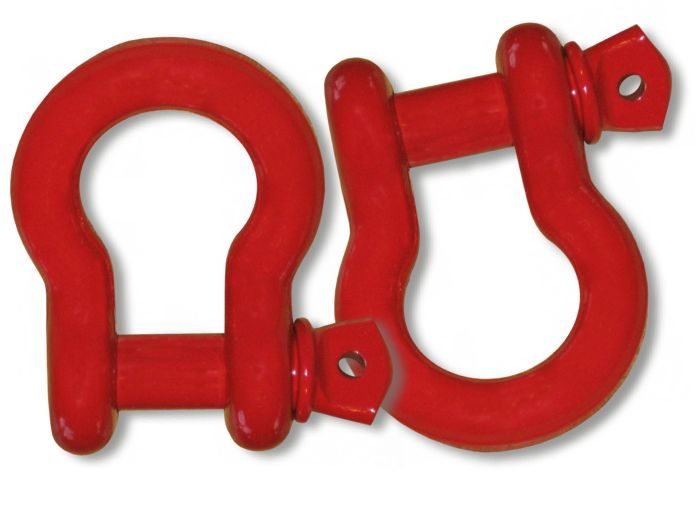 (It's Big!) 1 inch MEGA D-Shackles - PATRIOT RED Powdercoated (PAIR) (4X4 RECOVERY)
