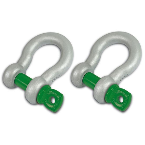 VanBeest 3/4 inch Jeep D-SHACKLES - Green Pin (PAIR) (4X4 RECOVERY)