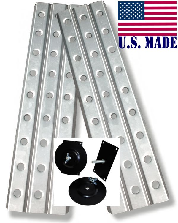 U.S. made HD SAND TRACKS - ALUMINUM 12 inch X 48 inch (Pair) with Mounting Brackets (OFF-ROAD RECOVERY)