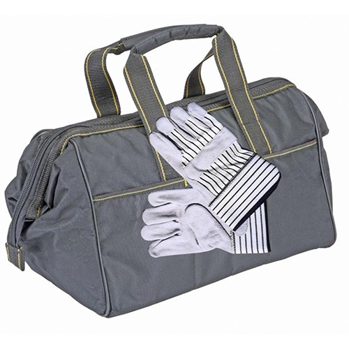 15 inch WOODS-CAMO WIDE-MOUTH RECOVERY KIT BAG With WORK GLOVES (4X4 VEHICLES)