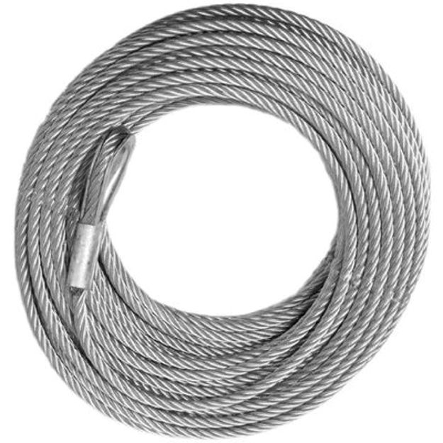Wrecker Replacement Cable - 7/16 inch X 125 ft Galvanized (17,600lb strength) (VEHICLE RECOVERY)