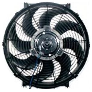 U.S. made 24 VOLT HP 16 inch RADIATOR FAN with Zip Tie Mounting Kit & Adjustable Thermostat