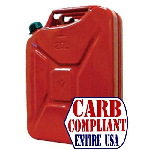 CLASSIC 5 Gallon Steel Jerry can GAS - NATO Dimensions (DOT, CARB and EPA approved for all 50 states)