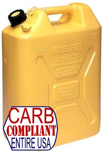 MILITARY-STYLE 5 GALLON POLYETHYLENE DIESEL CAN w/ nozzle (DOT, CARB and EPA approved for all 50 states)