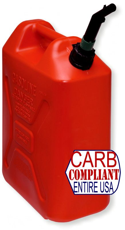 SCEPTER 5 Gallon POLYETHYLENE GAS CAN (DOT, CARB and EPA approved for all 50 states)