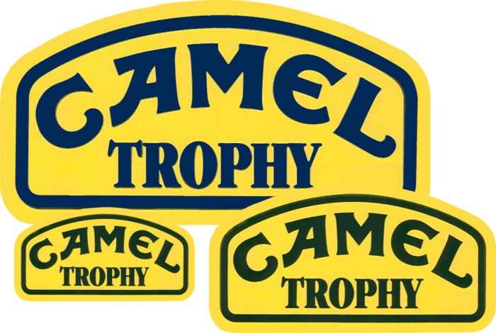 Camel Trophy DECAL KIT (DOOR PANEL & JUMBO & LARGE) two of each size v 4X4 OFF-ROAD VEHICLES