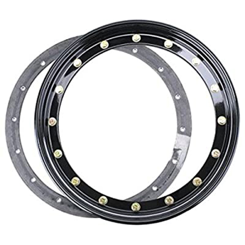 Simulated Beadlock Ring 15 inch - BLACK (single)