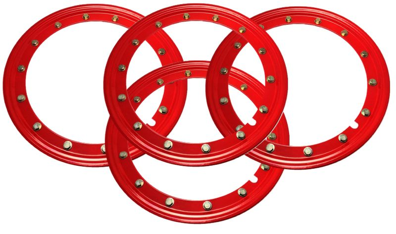 Simulated Beadlock Rings 15 inch - RED (Set of 4)