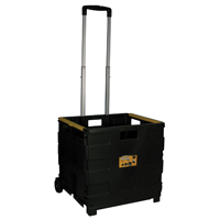 Pack-N-Roll 85-010 Portable Tool Carrier, 3-1/4 in W x 18-1/2 in D x 18-1/2 in H, Plastic, Black