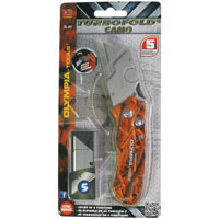 Olympia 33-207 CAMO Design Folding Utility Folding Knife, Orange