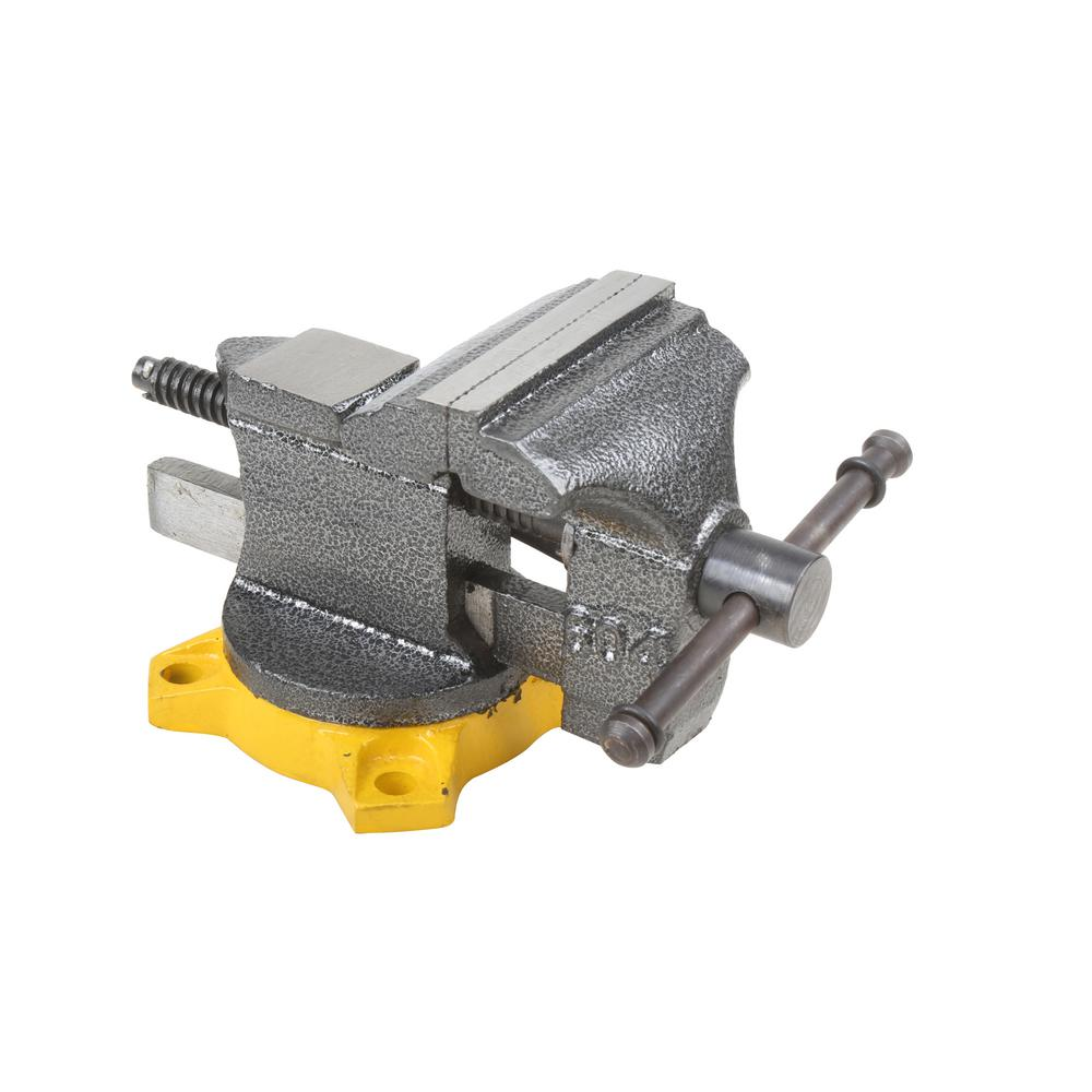 Olympia 38-604 Bench Vise, 4 in X 4 in Jaw, Steel