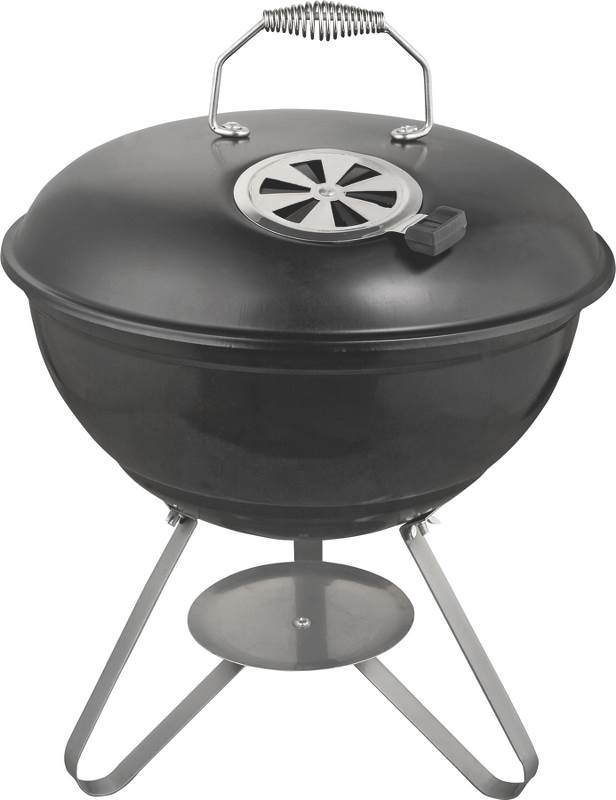 Omaha GY22014I Kettle Tabletop Charcoal Grill With Handle, 138 sq-in 14-1/2 in D x 18- 1/2 in H, Steel