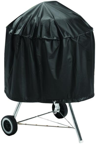 MintCraft SPC05-12 Kettle Grill Cover With Drawcord, Vinyl, Black