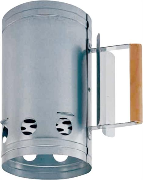 ToolBasix SHA286123L Chimney Starter, Galvanized Steel, Wood Handle