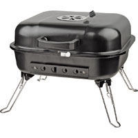 Omaha GY916 Square Tabletop Charcoal Grill, 217 sq-in 16-1/2 in W x 17-1/2 in D x 13-1/2 in H