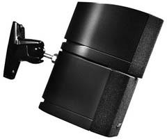OmniMount 5.0 W/C 5.0 W/C Stainless Steel Universal 5lb Speaker Wall/Ceiling Mount Kit
