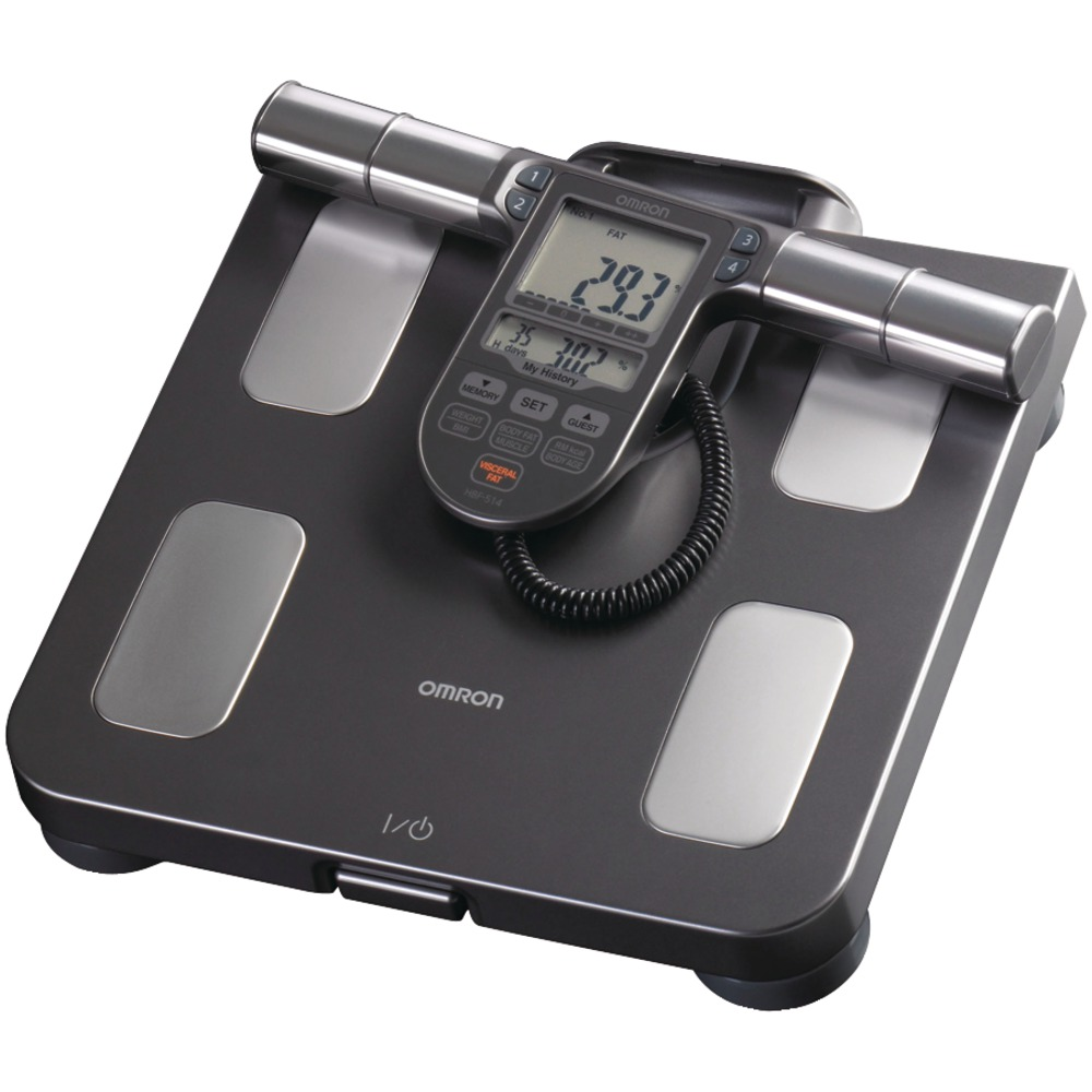 Omron HBF-514C Full-Body Sensor Body Composition Monitor & Scale with 7 Fitness Indicators (90-Day Memory)