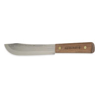 Ontario Knife Old Hickrey Butcher Knife, 7-1/4 in x 11.81 in L, Brown, 1095 Carbon Steel