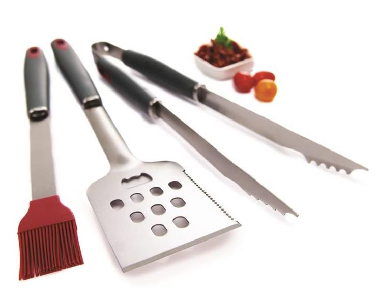 GrillPro 40025 3-Piece Tool Set, Stainless Steel Blade, Resin Handle