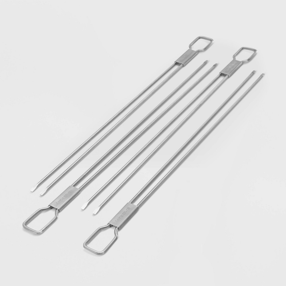 SKEWER DUAL PRONG SS 4PC