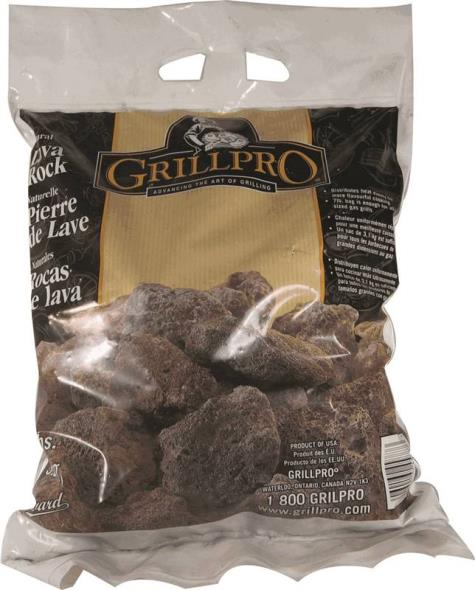 GrillPro 45887 Replacement Grill Lava Rock, For Use With Gas Grills, Fireplace and Chimney, 7 lb Bag