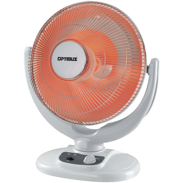 """Optimus 14"""" Oscillation Dish Heater with Tip-Over Safety Switch"""