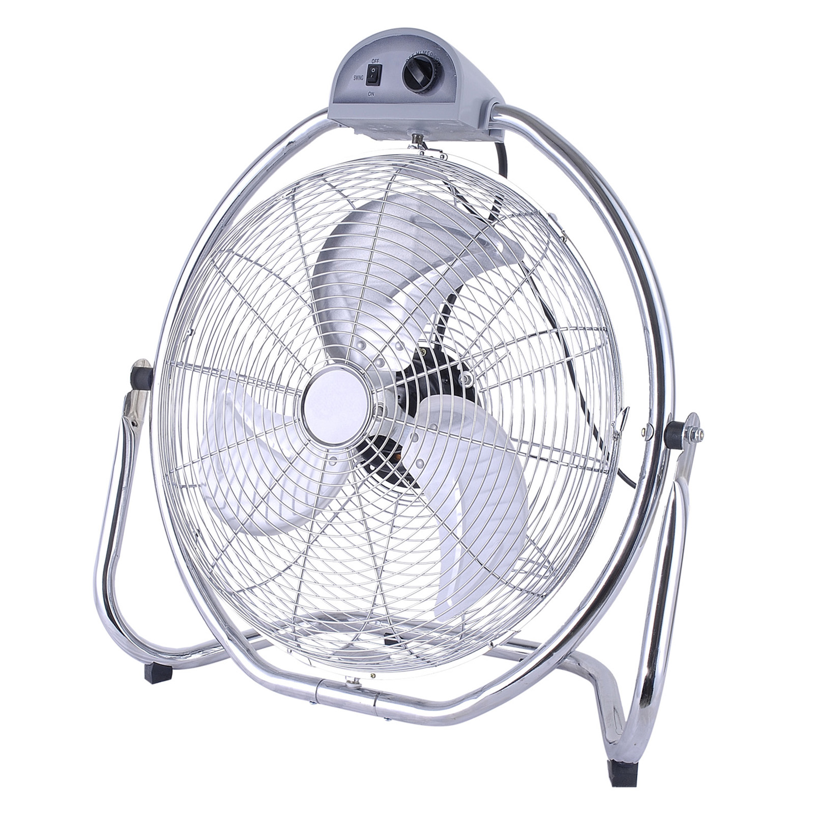 OPTIMUS F4208 INDUSTRIAL 20INCH HIGH VELOCITY FAN WITH CHROME