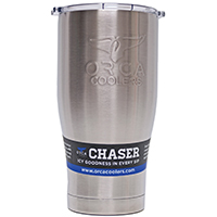 ORCA ORCCH27 Double-Wall Insulated Cups Chaser Tumbler, 27 oz, 7 in H, Stainless Steel Double Vacuum Sealed