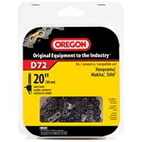 Oregon D72 Premium Replacement Chain Saw Chain, 3/8 in X 20 in