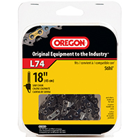 Oregon L74 Chain Saw Chain, 3/8 in X 18 in