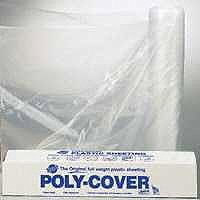 POLY FILM 12X100FT 4MIL CLEAR