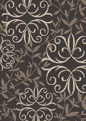 "Orian Rugs Iron Fleur Chocolate Accent Rug, 31"" x 45"""