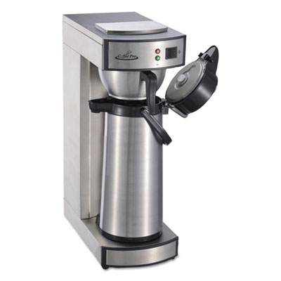 Air Pot Brewer, Stainless Steel, 75 oz, 8 3/4 x 14 3/4 x 21 1/4