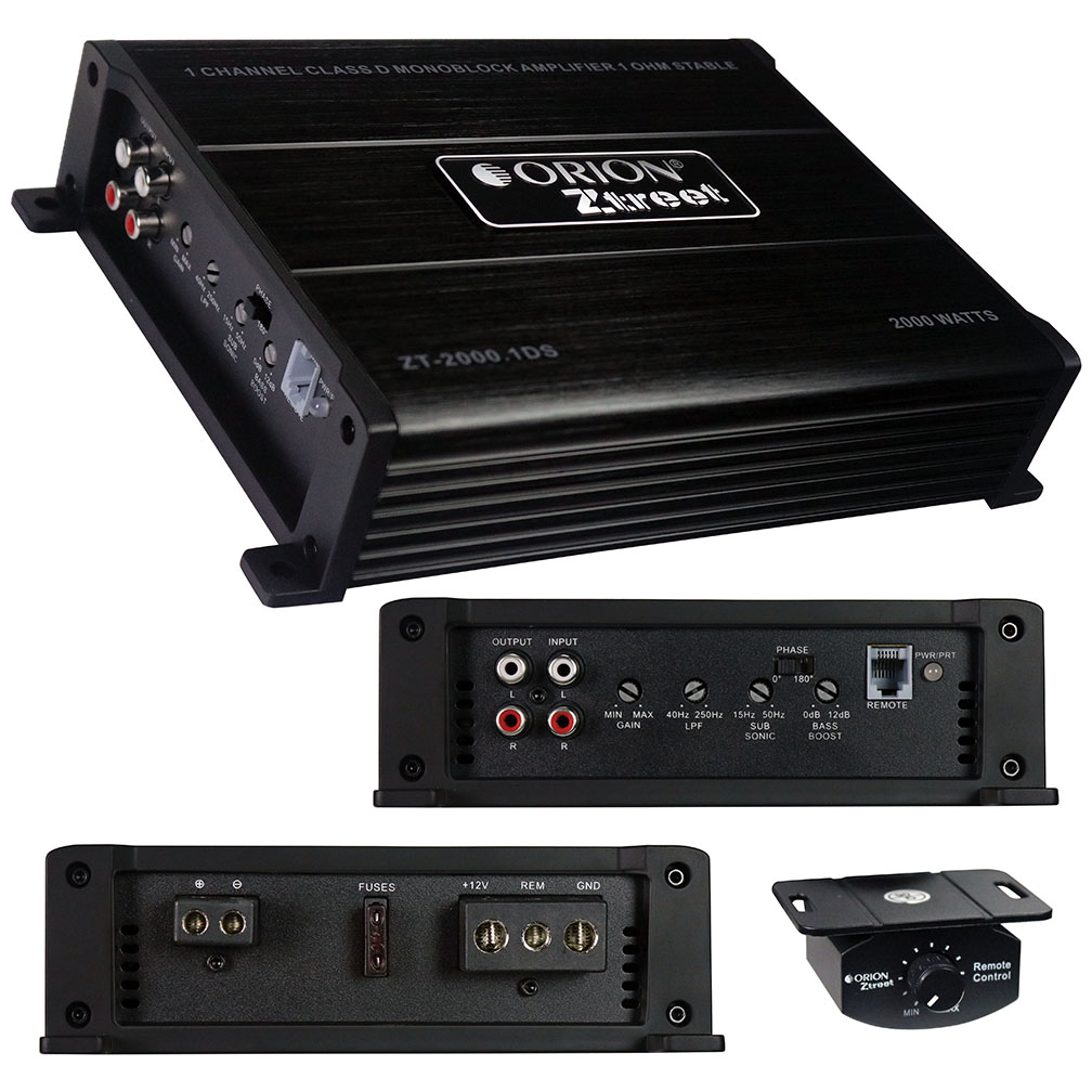 Orion Ztreet D Class Amplifier 2000 Watts Max