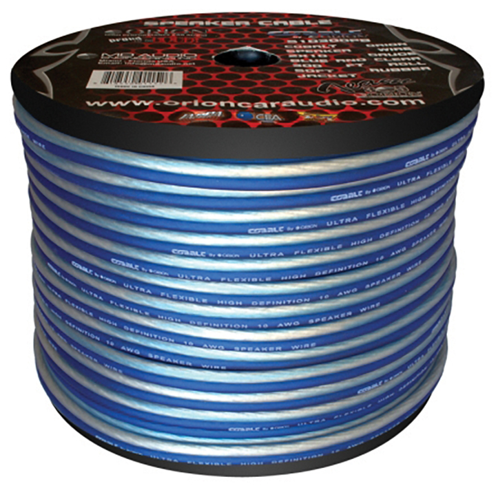 Cobalt Orion Speaker Wire 10 Gauge Blue/Clear 300ft