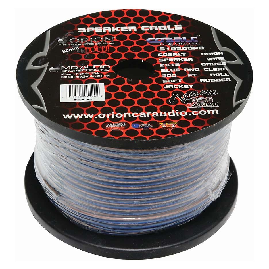 Orion Cobalt Speaker Wire 18 Gauge 300 ft