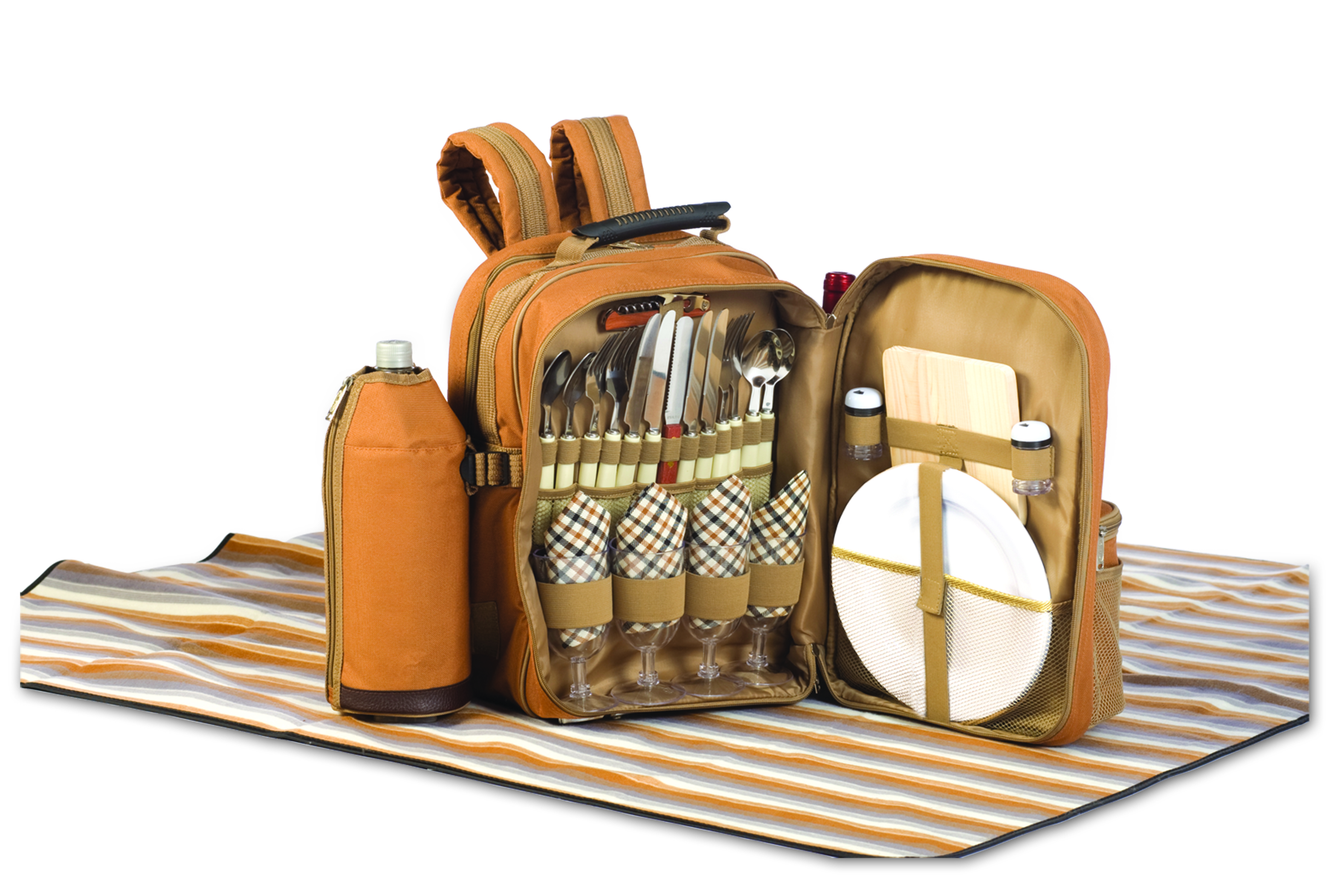 Tremont Brown 4 Person Picnic Set