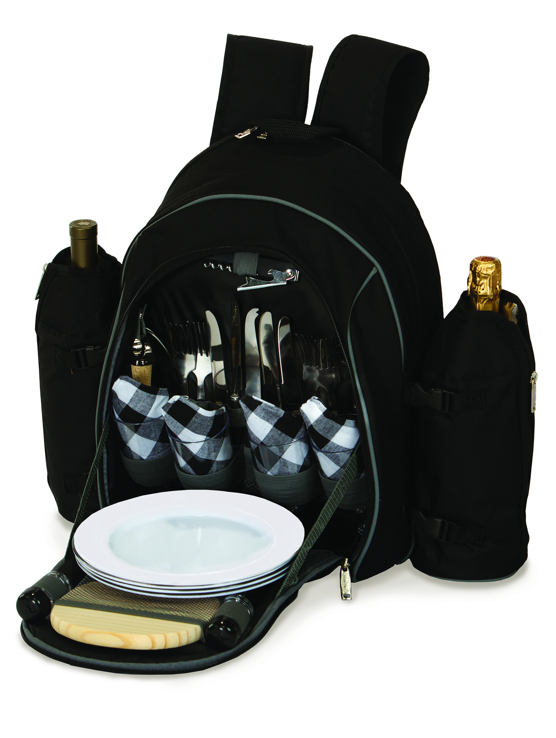 Stratton Black 4 Person Picnic Set