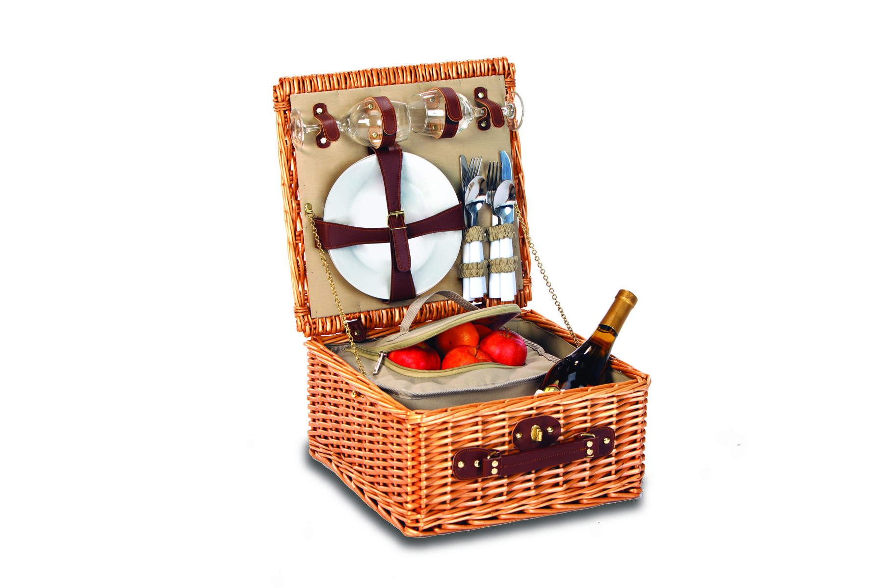 Baxter Stone Lining 2 Person Picnic Basket