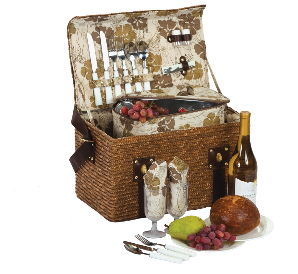 Woodstock Fern Lining 2 Person Picnic Basket
